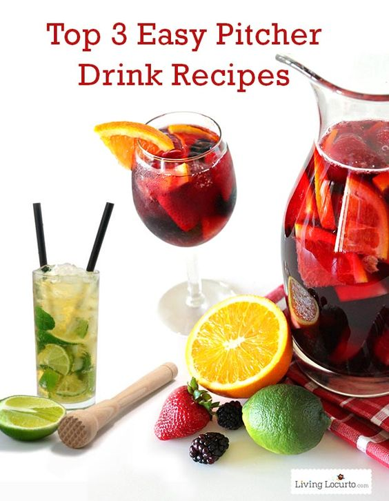 pitcher drinks punch bowls and cocktail recipes on pinterest