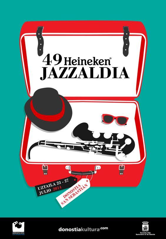 Diseño cartel Heineken Jazzaldia festival de jazz www.kathadigra.com