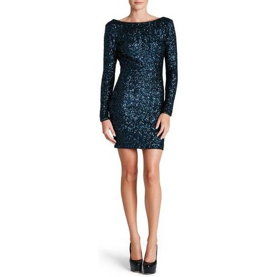 Dress the Population Lola Sequin Navy Dress as seen on JoJo Fletcher