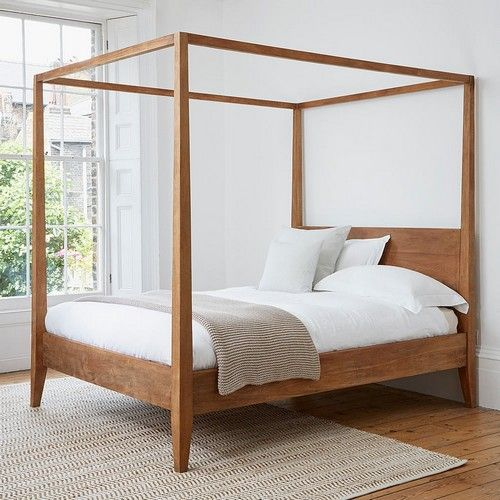 Sumatra Poster Bed Frame Solid Teak Bed Frame Shop In Kuala Lumpur In 2020 Canopy Bed Frame Poster Bed Canopy 4 Poster Bed Canopy