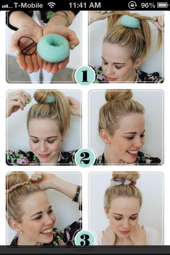 Wondrous Donuts Buns And Donut Bun On Pinterest Hairstyles For Men Maxibearus