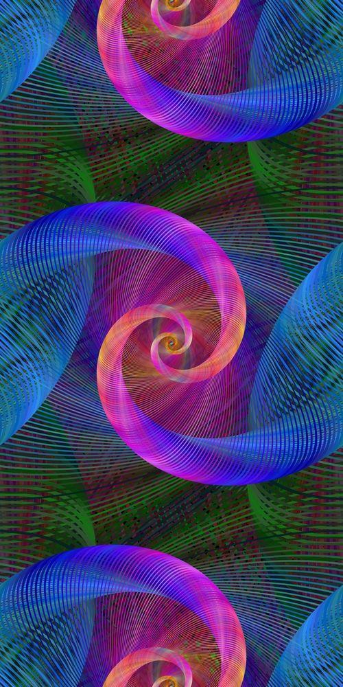 14 Seamless Fractal Spiral Pattern Backgrounds Background