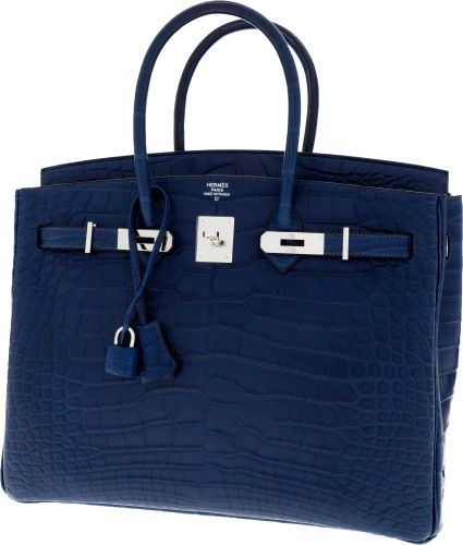 best made handbags - Hermes 35cm Matte Blue de Malte Alligator Birkin Bag with ...