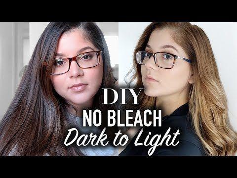 Lighten Dark Hair No Bleach Dark Brown Black To Blonde
