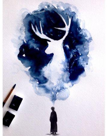 Harry Potter Placer County Mom Zeichnungen Aquarell Malen