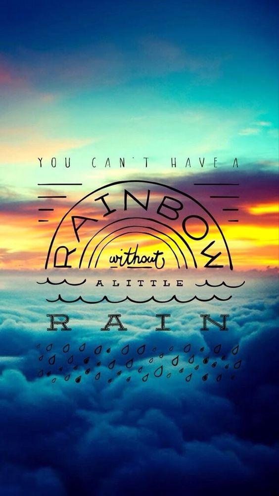 Tap image for more iPhone quote wallpaper! Rainbow ...