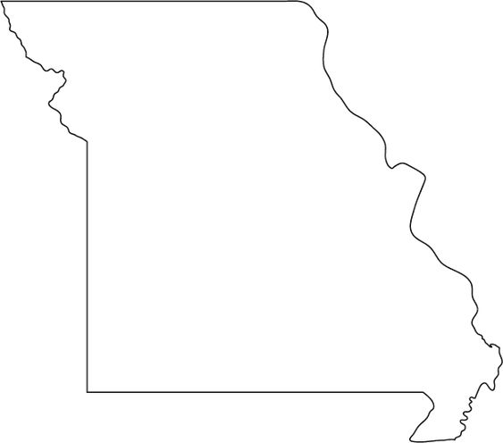 Missouri Outline Map  Coloring Pages  Pinterest  Google