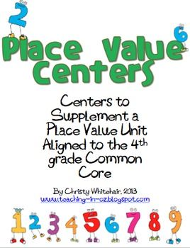 differentiated 4th grade common core aligned place value centers activities places and place. Black Bedroom Furniture Sets. Home Design Ideas
