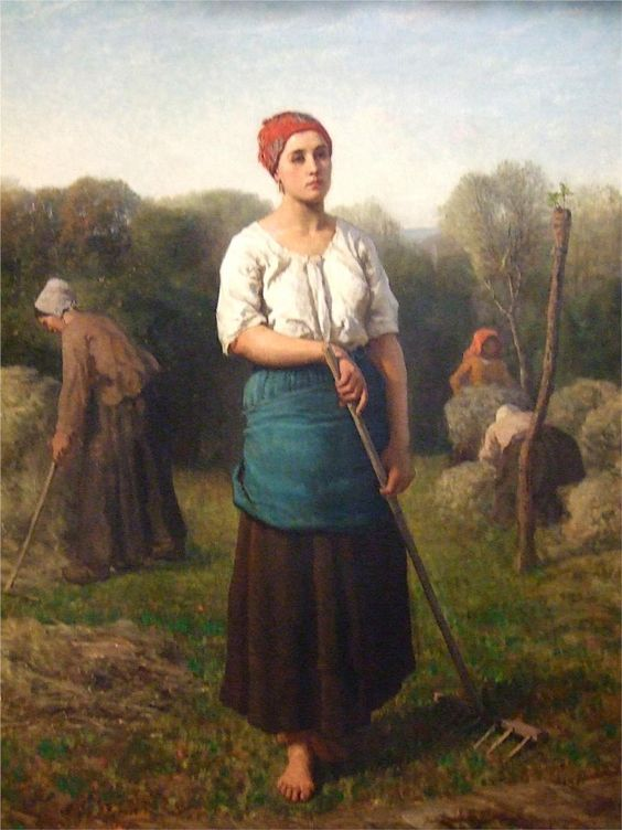 Girl with a Rake, 1859 Jules Breton