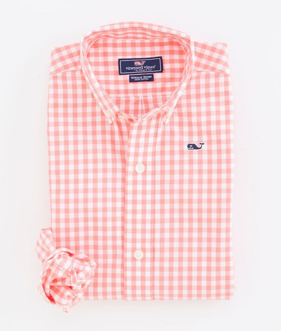 Boys' Sports Shirts: Gingham Whale Shirt for Boys - Vineyard Vines