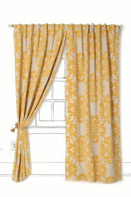 yellow curtains from anthropologie