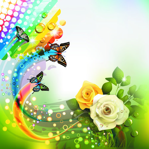 http://freedesignfile.com/16015-colorful-flower-and-butterfly-background-vector-05/