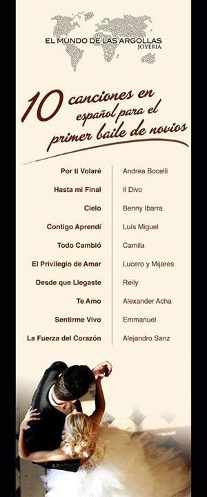 ¿Ya eligieron la canción para el baile de novios?  Aquí te van algunas recomendaciones en español.
