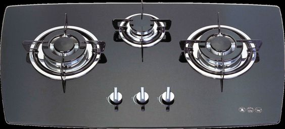 Trio G01, Built-in 3 burner glass gas hob, High power work burner suitable for Indian cooking, Nagold by Hafele