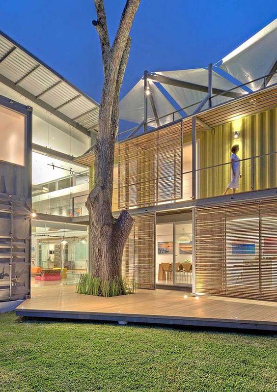 Maison container une construction conomique et rapide design constructi - Container amenage maison ...