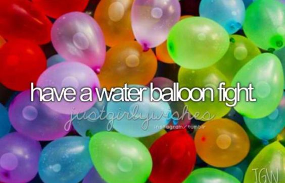 I think this is absolutely necessary for summer. Summer is not summer without a water balloon fight: