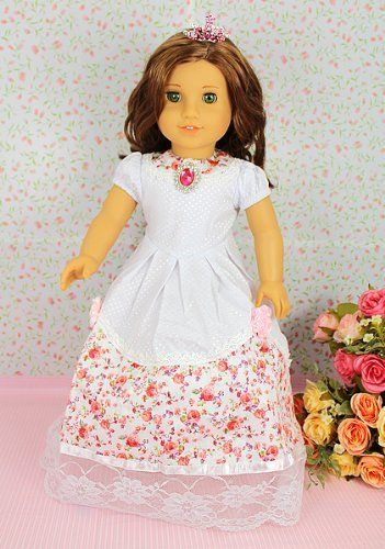 """** RUBY ROSE ** Victorian Romance - Rose Dress with Pink Rhinestone Crown ~ Fits 18"""" American Girl Dolls by *** The RUBY ROSE COLLECTION *** made by USAtoystore, http://www.amazon.com/gp/product/B005UQTEPG/ref=cm_sw_r_pi_alp_i49uqb1HWXTE0"""
