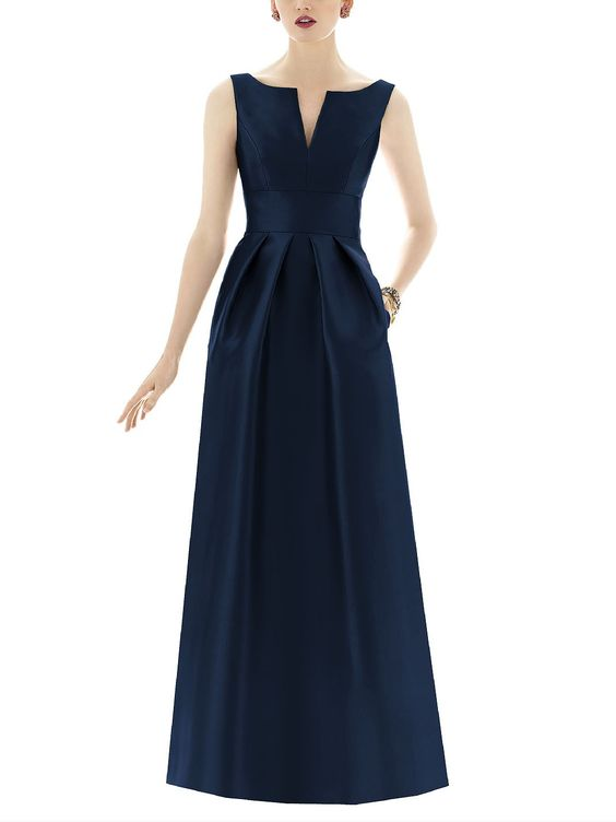 DescriptionAlfred Sung Style D655Full length bridesmaid dressSleeveless…