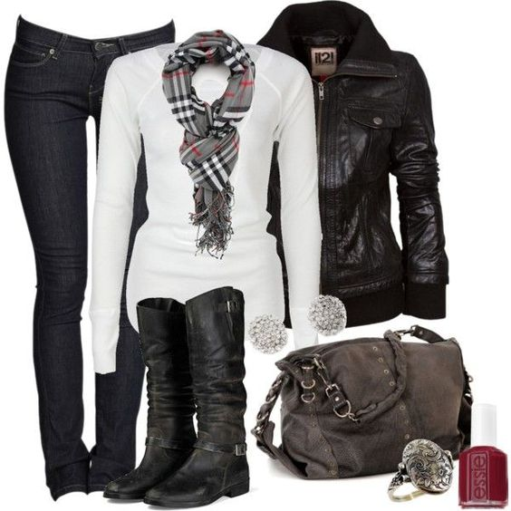Black and White Fall Outfit