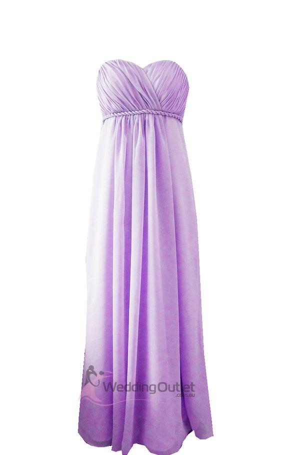 bridesmaid dresses purple  Lilac Purple Strapless Bridesmaid ...