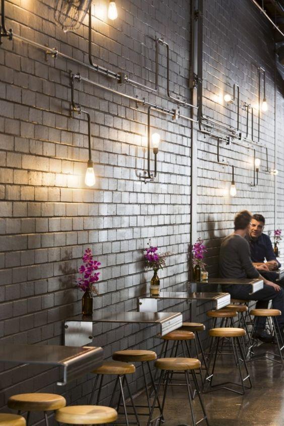Small Cafe Interior Design Ideas สไตล อ นด สเทร ยล สถาป ตยกรรม