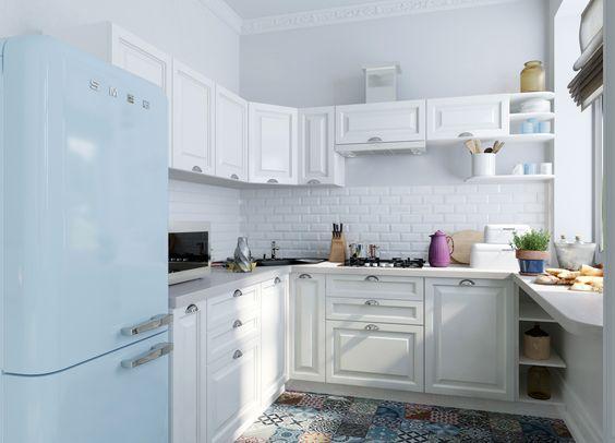 cocina blanca suelos ceramica