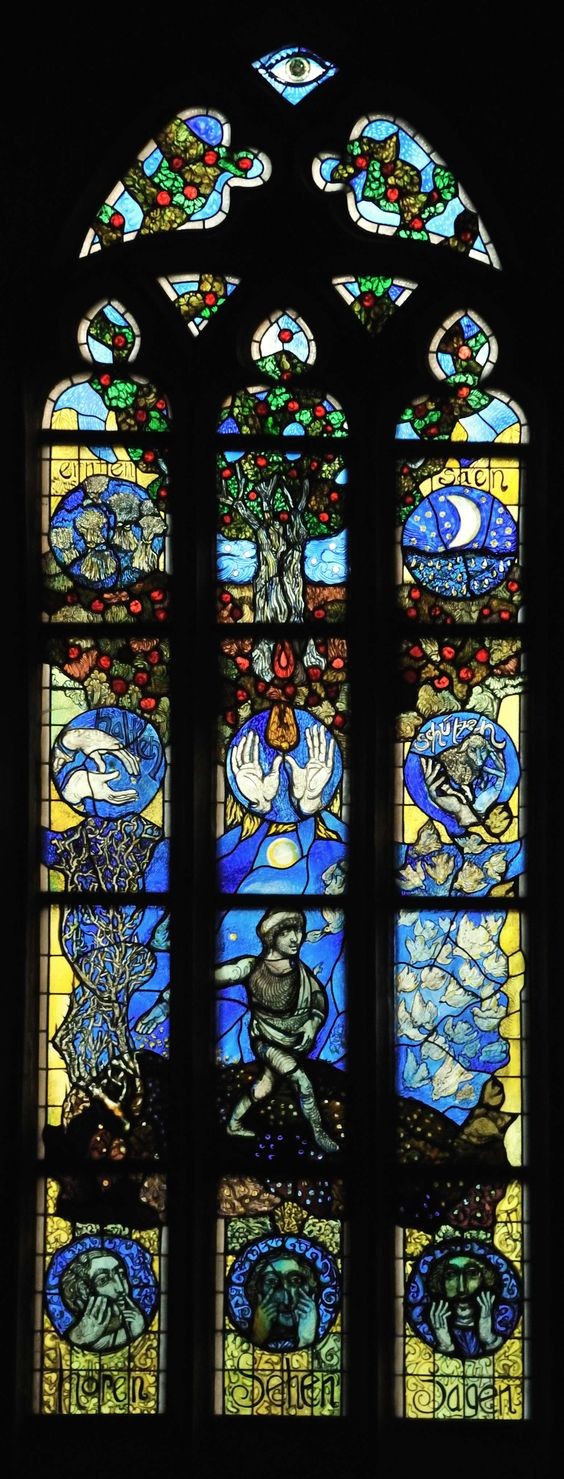 Stadtkirche St. Blasius - Stained Glass Window by Hans Gottfried von Stockhausen