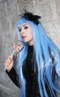 Kula Diamond Gothic Cosplay  king of fighters blue hair lollipop fighting game