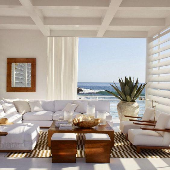 Ralph Lauren Living Room Photos: , Ralph Lauren, Coastal, Wood And White, Transitional