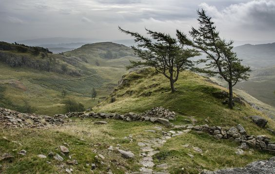Track to Wetherlam, above the old mines of Tilberthwaite, North Yorkshire, England
