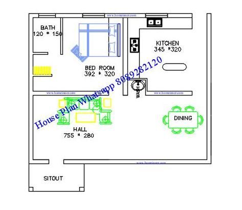 Today we are showcasing a Free 600 sq ft Kerala house plan 2 cent