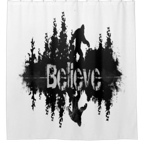The Legend Sasquatch Big Foot Lake Reflection Shower Curtain Zazzle Com Bigfoot Picture Wall Custom Shower Curtains