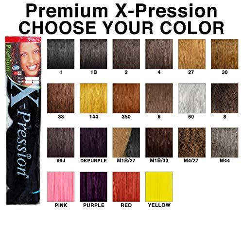 X Pression Premium Original Sensationnel 4packs Color 1b X Pression Braiding Hair Colors Hair Color Chart Kanekalon Hair Colors