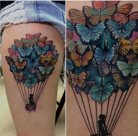 butterfly balloons tattoos pinterest tat butterflies and butterfly balloons. Black Bedroom Furniture Sets. Home Design Ideas