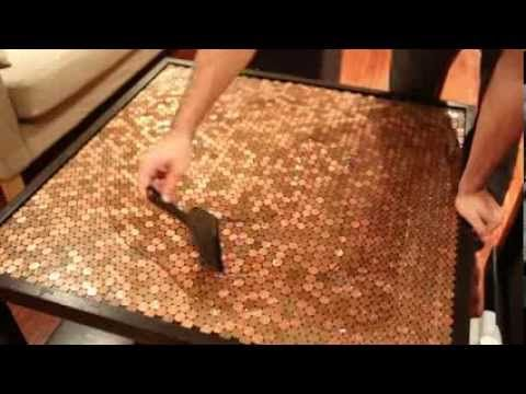 videos copper and penny table tops on pinterest. Black Bedroom Furniture Sets. Home Design Ideas