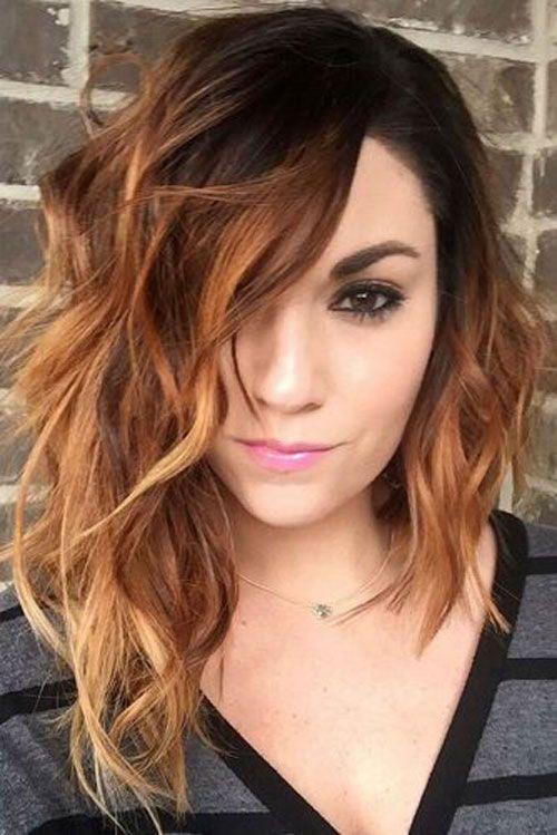 30 Cute Medium Shoulder Length Hairstyles For Women 2020 Guide Hair Styles Asymmetrical Bob Haircuts Long Hair Styles