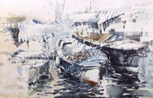 Summer Shower series | watwrcolour 57 x 38 cm  - by tony belobrajdic: http://ift.tt/2cDBkru -  ... Kunst / Art / Malerei / painting / Aquarell / watercolor