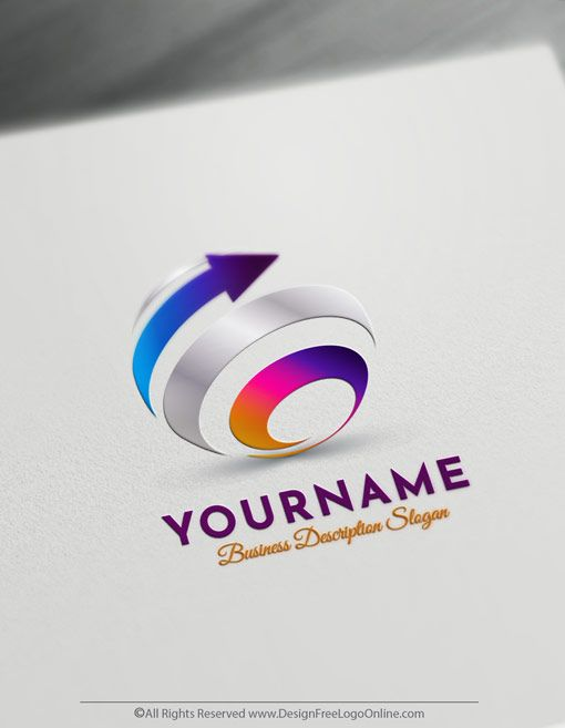 Create Your Own Online Spiral Logo Design Ideas 3d Logo Maker Create Logo Design Logo Design 3d Logo
