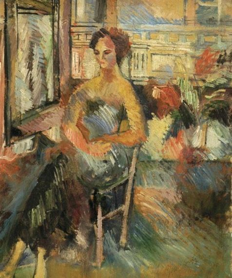 Jean Dufy - A Woman by the Window, oil on canvas