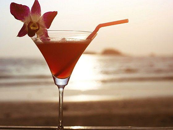 apéro    cocktail abricot et chicorée
