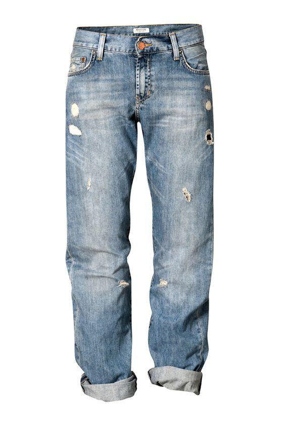 Boyfriend-Jeans von H