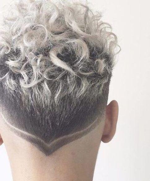 Platinum Hair Design Short Curly Hairstyles For Men Colored Curly Hair Men Hair Color Hair Styles