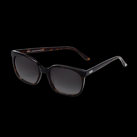 MINICSonnenbrille Charles: Unisex Brille in Neo-Vintage-Form in hochwertiger Hornoptik. Gläser mit Grauverlauf. 100 % UV-A-/UV-B-Schutz.