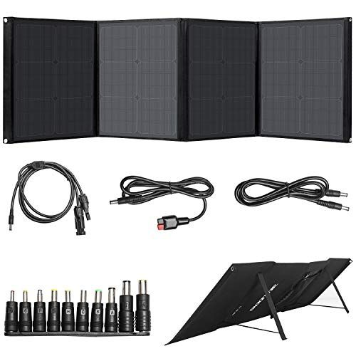 Beaudens 100w Solar Panel Foldable Kickstand Monocrystalline Support Type C Dc Qc3 0 Usb Ports P In 2020 Portable Solar Panels Solar Charger Portable Solar Charger