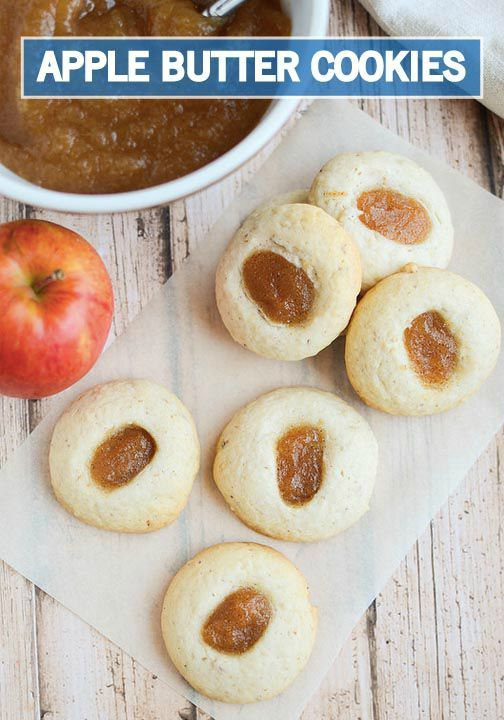 and more thumbprint cookies apple butter sweet treats cookies apples ...