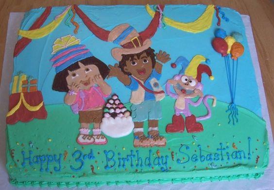 Dora and Diego Fiesta cake