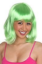 Lime Green Bob Wig Sku 899696 - StyleSays
