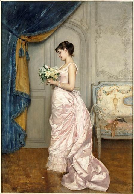Le Billet  Author :  Toulmouche Auguste (1829-1890)  Photo Credit :  (C) RMN-GP / Gérard Blot  Period :  19th century, période contemporaine de 1789 à 1914  Date :  1883