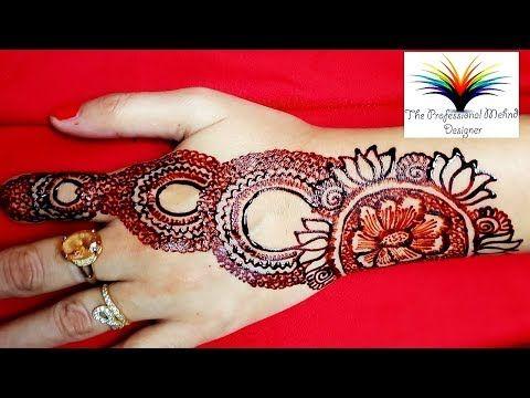 Red Cone Mehndi Design Video Beautiful Stylish Cone Hinna Mehndi