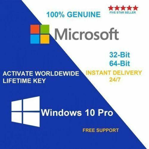 Ebay Sponsored Microsoft Windows 10 Pro Professional 32 64 Bit Genuine License Key Product Code Windows 10 Microsoft Windows Microsoft